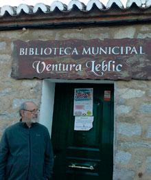 Navahermosa dedica su biblioteca a nuestro compañero Ventura Leblic