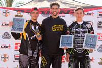 Gustavo Alcojor y Verónica García triunfaron en la liga nacional de BMX LBR