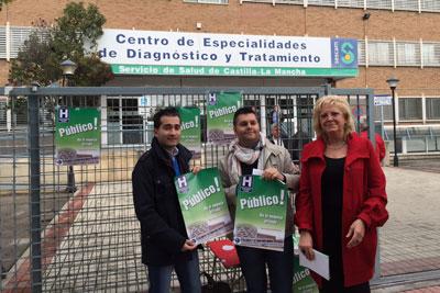 FSP UGT se suma a la campaña informativa contra la privatización de servicios del Hospital de Toledo