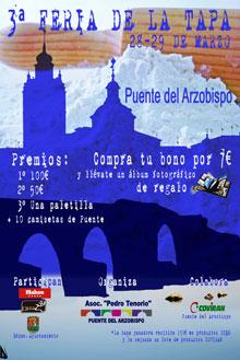 Puente del Arzobispo celebra su tercera Feria de la Tapa los días 28 y 29 de marzo