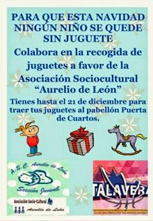 Dona tu juguete en el Polideportivo Puerta de Cuartos para que ningún niño se quede sin él esta Navidad