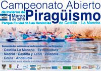 El Parque Fluvial de Las Herencias acoge el Campeonato Abierto de Invierno de Piragüismo este domingo 1 de marzo