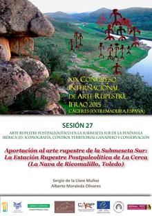 Los arqueólogos talaveranos Moraleda y De la Llave presentarán en Cáceres una estación sobre los grabados hallados en La Nava de Ricomalillo