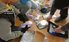 La Guardia Civil detiene a seis personas, desmantela un laboratorio de cocaína e incauta un kilogramo de esta sustancia