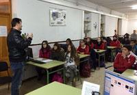 Alumnos del Juan Ramón Jiménez reciben una Master Class sobre energenías renovables