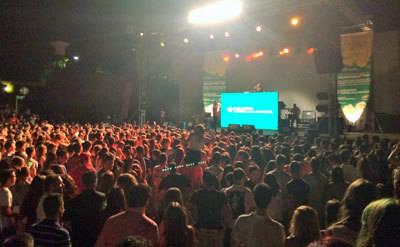 Lleno absoluto en el concierto 'Ciudad Real 40 Pop Pandorga' con Caja Rural Castilla-La Mancha