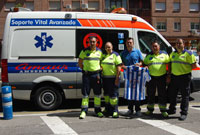 El CF Talavera suscribe un convenio con Ambulancias Amaur-Amberne en pro de la seguridad en el campo