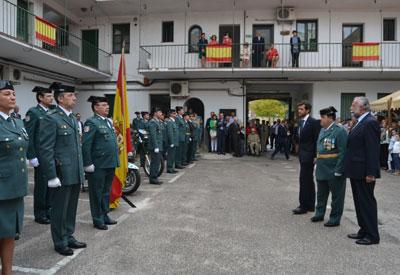 Talavera celebra el Día de la Fiesta Nacional en el Cuartel de la Guardia Civil