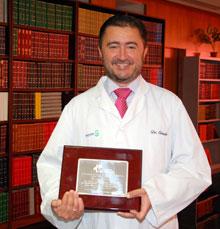 La Sociedad Española de Medicina Preventiva, Salud Pública e Higiene premia al facultativo Juan José Criado, del Área Integrada de Talavera