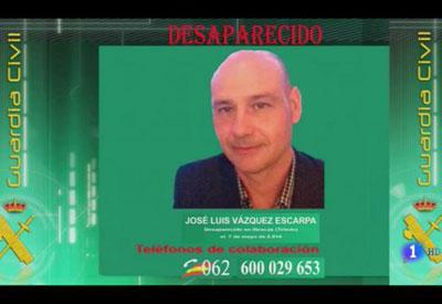 La Guardia Civil pide colaboraci�n para localizar al empresario Jos� Luis V�zquez Escarpa