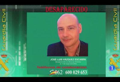 La Guardia Civil pide colaboración para localizar al empresario José Luis Vázquez Escarpa