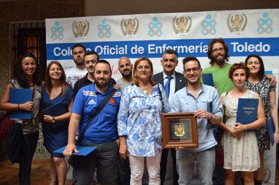 Enfermeros del Hospital de Talavera de la Reina galardonados por su labor solidaria por el Colegio de Enfermería de Toledo