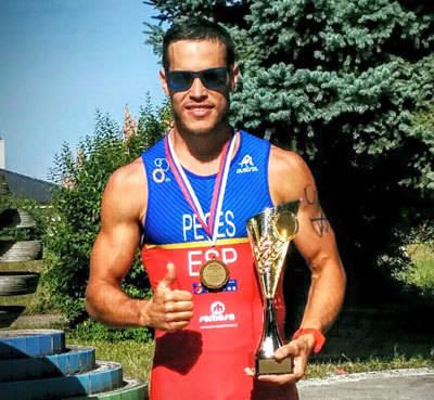 Enrique Peces, Campeón del Mundo de Cuadtiatlón en Samorin (Eslovaquia)