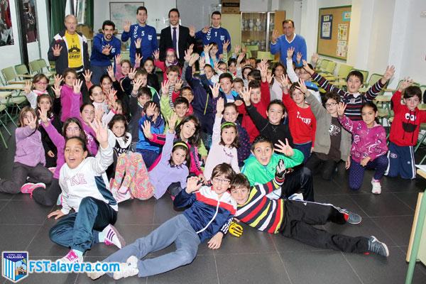 El FS Talavera lleva su iniciativa 'Aula Futsal' al colegio talaverano 'Fray Hernando'