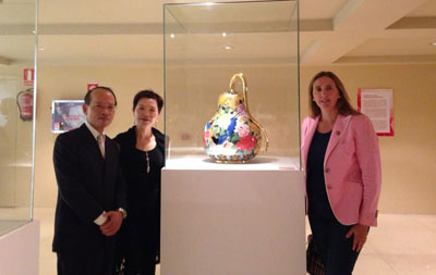 La cerámica taiwanesa pintada llega al Museo Ruiz de Luna