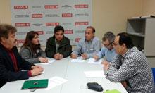 """CCOO y Ganemos se reúnen para tratar """"el estado calamitoso del ferrocarril en Talavera"""""""