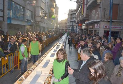 Más de cien metros de Roscón de Reyes para los ciudadanos de Talavera y comarca