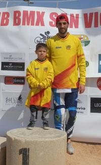 Gustavo Alcojor y Dani Bonilla se enfundan el mallot provisional de líderes de la Copa de España BMX