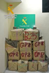 La Guardia Civil detiene a dos personas en Tembleque cuando viajaban con 393 kilos de hach�s