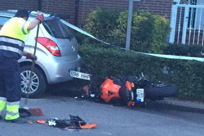 Un herido grave tras colisionar una moto con una furgoneta en la Avenida del Príncipe