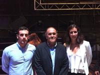 Los campeones de España de natación del Aqüis Raquel y Raúl Luengo, pregoneros en Las Herencias