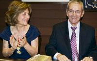 El empresario talaverano Ceferino León Martín recibió un merecido homenaje por 'toda una vida dedicada a los demás'
