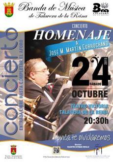 Concierto de la Banda de Música de Talavera para homenajear a su compañero José M. Martín Corrochano