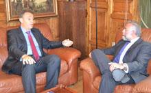 Ramos analiza el área metropolitana con el director de Administraciones Públicas