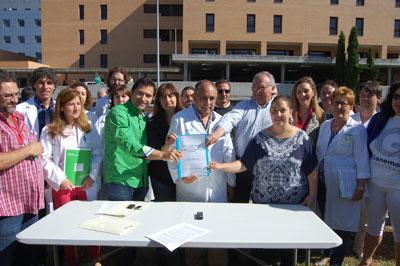 PSOE, Ganemos, UPyD, Podemos, IU y PACMA firman el pacto por la Sanidad talaverana