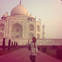 TALAVERANOS POR EL MUNDO: Lole Cuadrado, 28 años (Nueva Delhi, India)