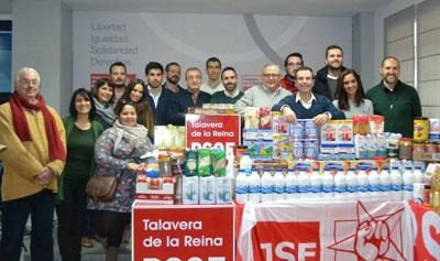 Juventudes Socialistas de Talavera recoge más de media tonelada de alimentos para Cruz Roja en su campaña de 'Migas Solidarias'