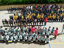 Varios colegios de Talavera guardaron un minuto de silencio por el profesor asesinado en Barcelona
