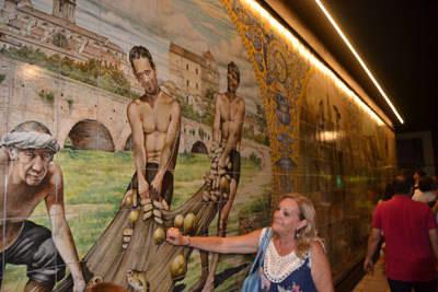 Telesforo Jiménez, guarda del Prado y pescador inmortalizado en el mural