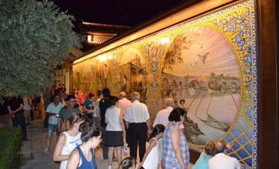 El mural cerámico en homenaje al río Tajo y a los pescadores, de todos y para todos los talaveranos