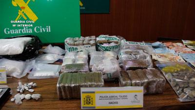 La Guardia Civil detiene a 33 personas pertenecientes una organización dedicada a la distribución de cocaína en Toledo y Madrid