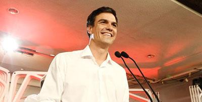 Pedro Sánchez, el nuevo secretario general del PSOE que también gana en Talavera