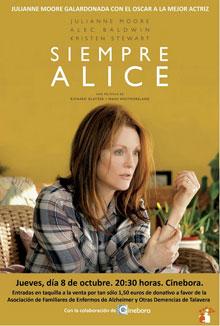 Cinebora proyectará 'Siempre Alice' para recaudar fondos para AFATA