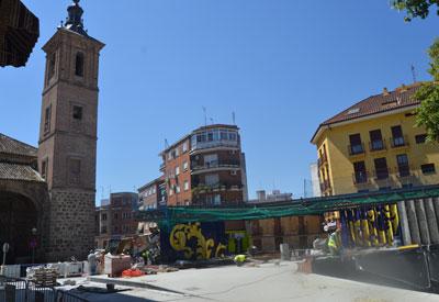 Estado actual de las obras en la Plaza del Salvador.