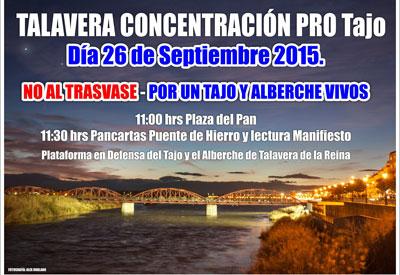 La concentración 'ProTajo' reunirá el próximo sábado a ciudades de España y Portugal en Talavera