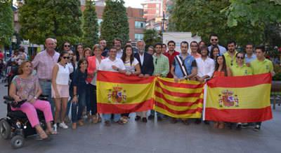 Nuevas Generaciones de Toledo se concentra en Talavera 'Por Cataluña, por España'