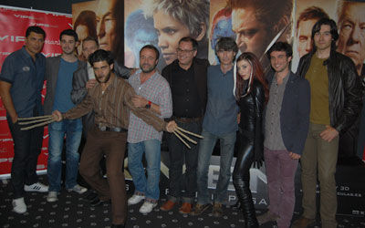 Las 'voces' de los personajes de X-Men, en la 'première'de Multicines Artesiete