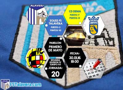 El Soliss FS Talavera recibe al CD Denia