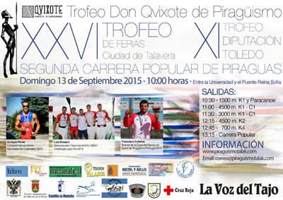 Este domingo se celebra el Trofeo Don Qvixote de Piragüismo en Talavera