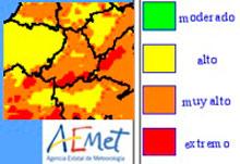 Talavera y comarca, con riesgo alto y muy alto de incendio forestal