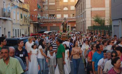 Los talaveranos viven con fervor la procesión de la patrona de los marineros