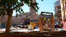 Las obras en la Plaza de El Salvador provocan malestar entre vecinos y comerciantes