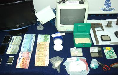 Desmantelados dos puntos de venta de droga en Magán donde un clan familiar se dedicaba al tráfico de cocaína y heroína