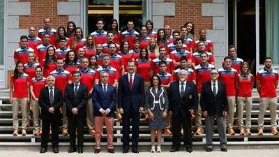 El Rey de España recibió a la delegación española que participará en los Juegos Europeos de Bakú