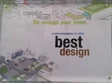 Los alumnos del IES Ribera del Tajo ganan el premio 'Redesign your town' con el resideño del edificio de Tresku