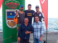 Rubén Gutiérrez en el podium de la Travesía de Torremolinos